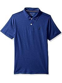 9e21904f3 Nautica Boys  Big Short Sleeve Solid Deck Stretch Polo