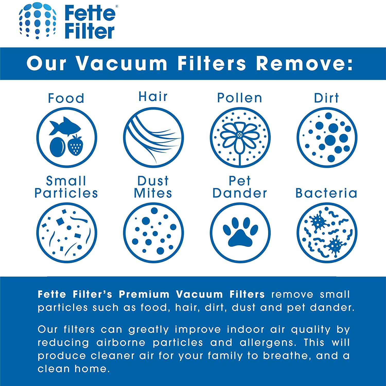 Amazon.com: Fette Filter - Filtro de vacío AirRam compatible ...