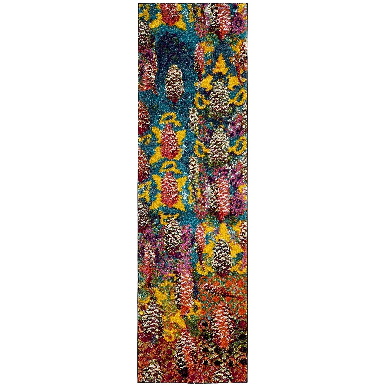 Kess InHouse Carol Schiff Mountain Sunset Orange Nature Decorative Door 2 x 3 Floor Mat