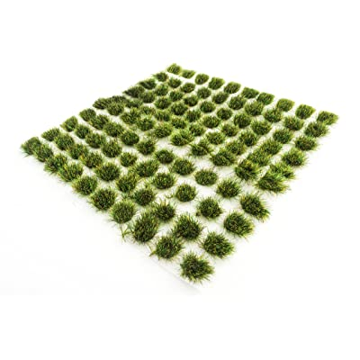 War World Scenics Summer 6mm Self Adhesive Static Grass Tufts x 100 – Railway Modeling Wargaming Terrain Model Diorama: Toys & Games