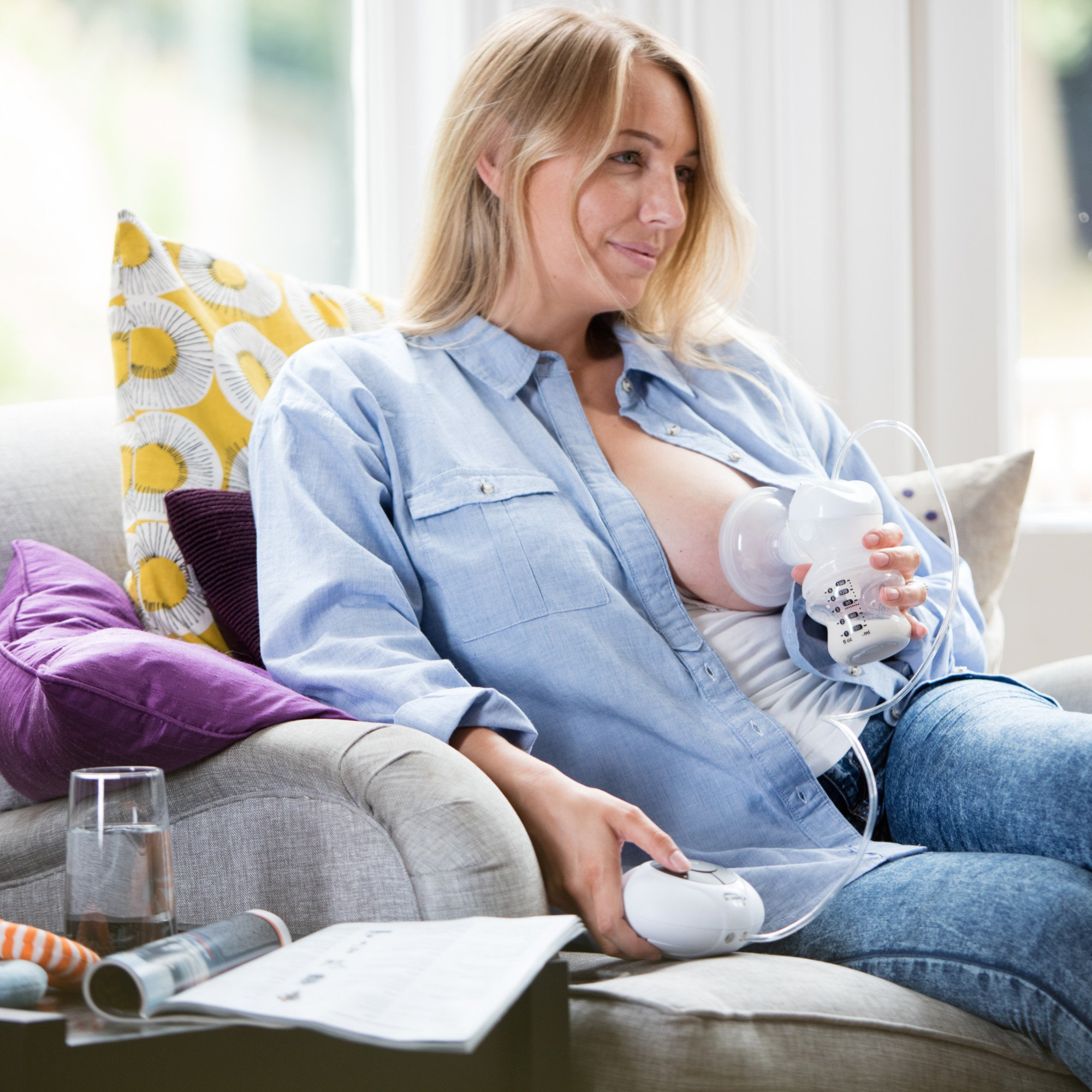 tommee tippee closer to nature electric breast pump white buy online in uae baby products