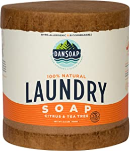 DanSoap All Natural Laundry Detergent | Eco-Friendly, Hypoallergenic, Natural, Biodegradable Laundry Soap | 70 Loads, Citrus and Tea Tree