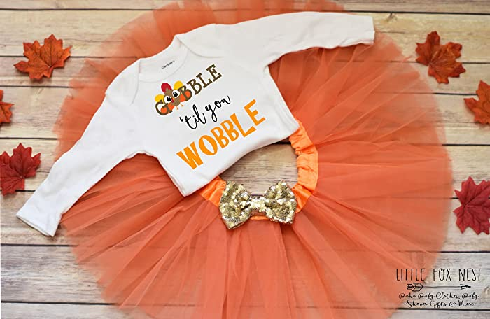 3487f1c7885a Amazon.com: First Thanksgiving Outfit Girl, First Thanksgiving, Thanksgiving  Tutu, Thanksgiving Outfit, Thanksgiving Dress: Handmade