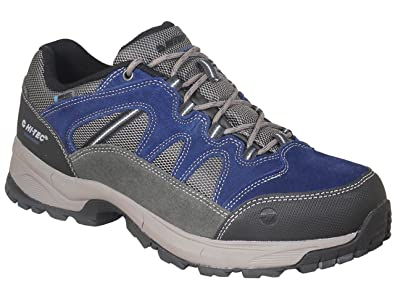 75ca4195913 Men's Hi Tec Wide Fit Waterproof Walking Shoes Blue/Grey