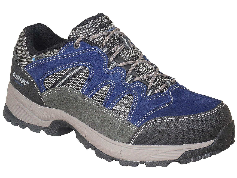 Hi Tec Leder Herren Wasserdichte Wander Schuhe Blau