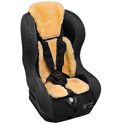 Revestimiento de piel de cordero medicinal para silla bebé de coche ...