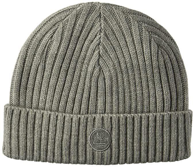 c8ee8c709 Timberland Men's Ribbed Fitted Watch Cap, Light Heather Gray, One ...
