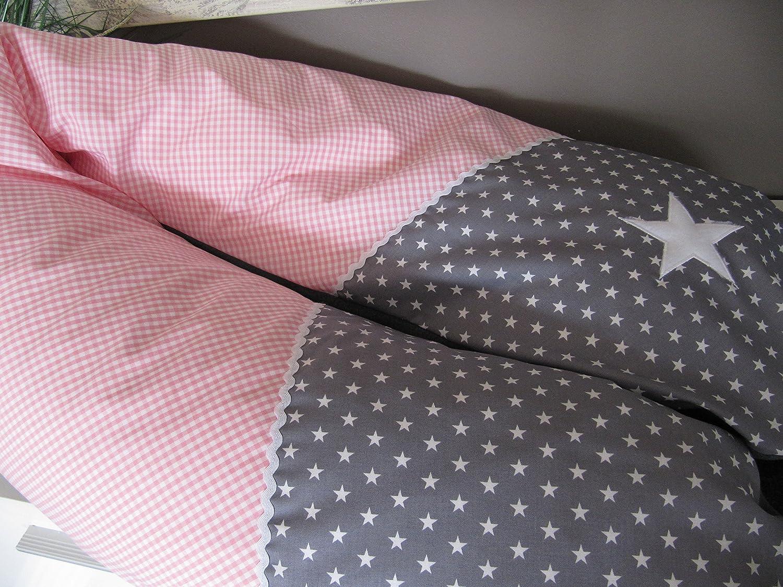 Stillkissen - rosa-grau - Stern - 190cm groß