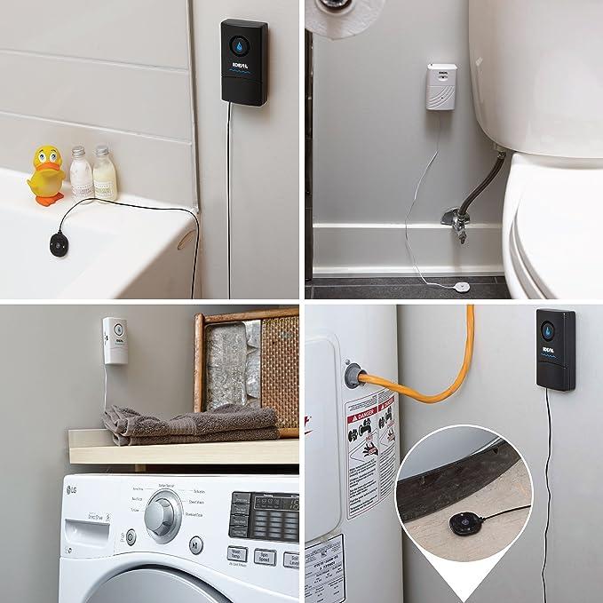 SUNXK Wasserstand voller Leckagealarm Sensor Detektor f/ür Badewanne Warmwasserbereiter R/ücklaufrohr