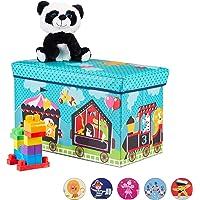 Relaxdays Caja de Asiento para niños, Plegable,