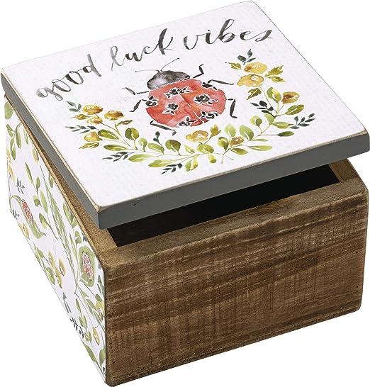 ENAMEL RED LADYBIRD LADYBUG INSECT 4 PIECE KEYRING CHARM GIFT IDEA UK SELLER