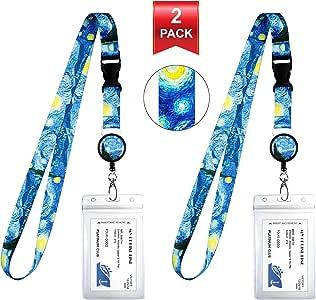 2-Pack Cruise Lanyard & Waterproof ID Key Card Holder Clip. Matching Retractable Badge Reel. Bonus Travel Organizer Bag. Essential Cruise Ship Accessories. Vincent Van Gogh The Starry Night