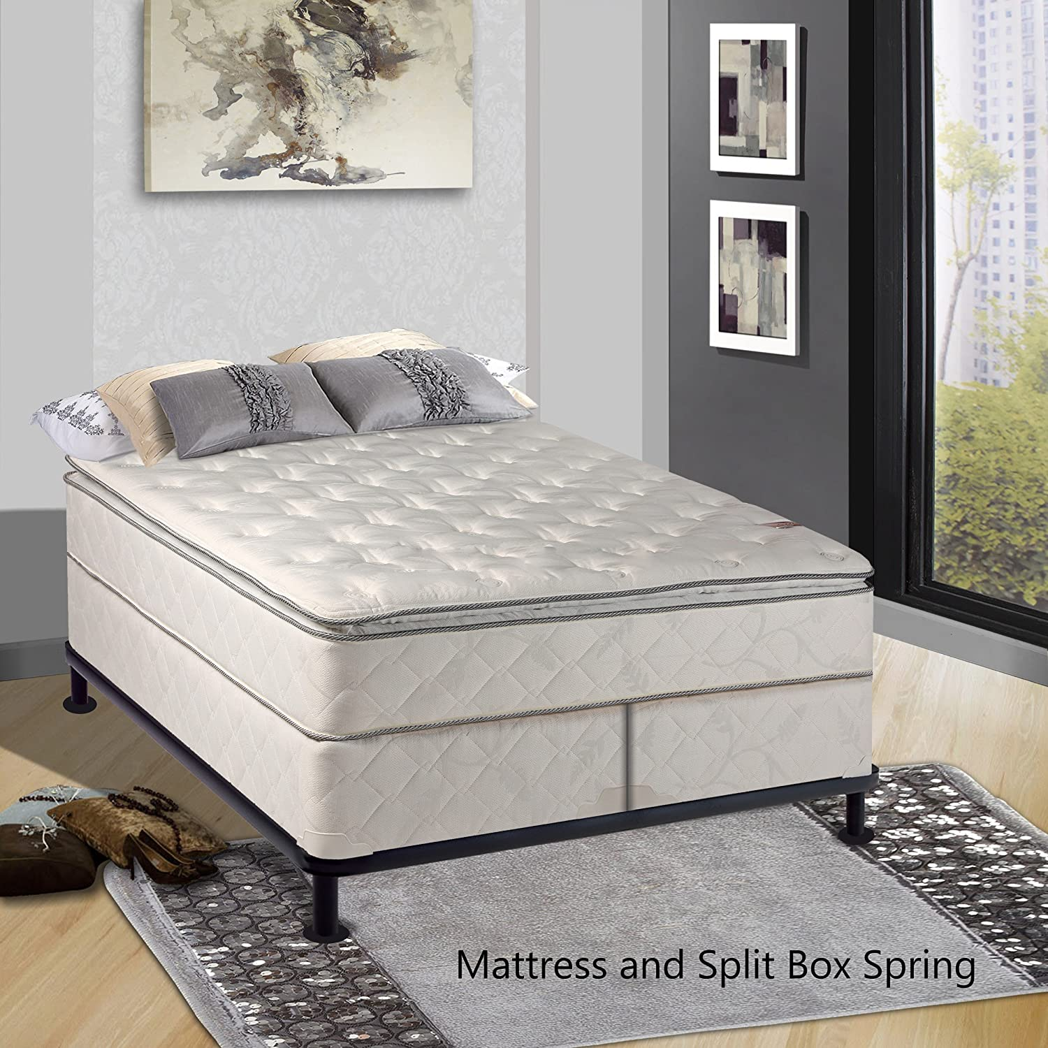 amazon com continental sleep mattress 10 inch fully assembled
