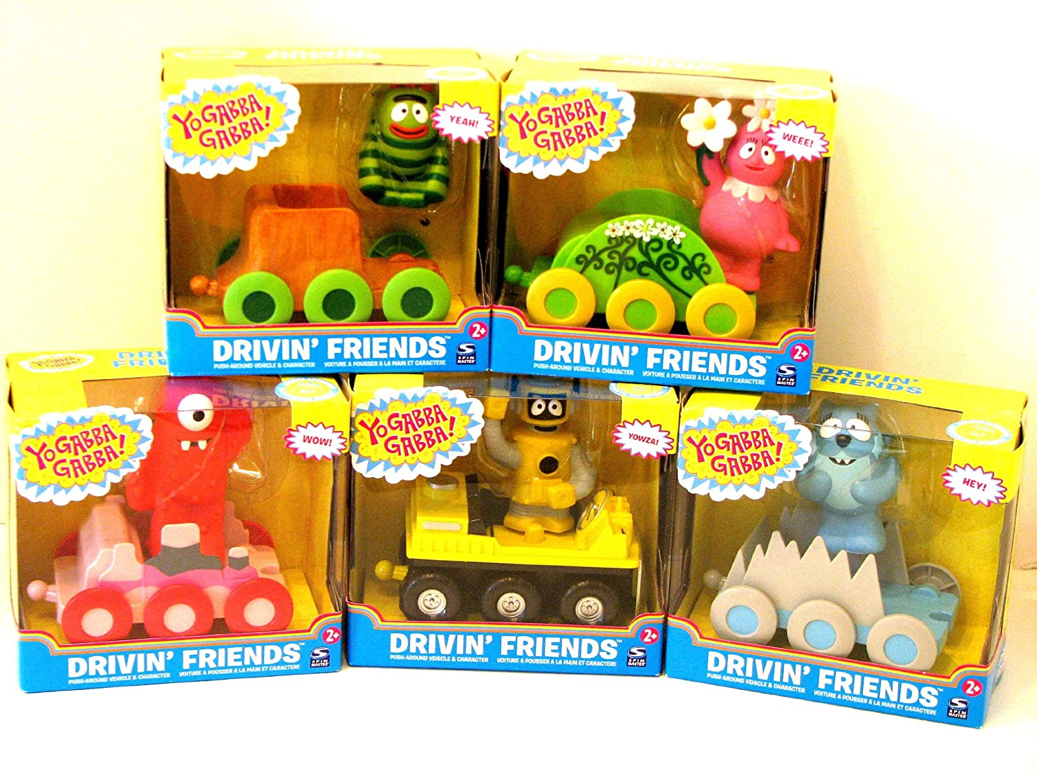 Buy 5 Yo Gabba Gabba Drivin Friends Push Around Cars Lot Muno Foofa