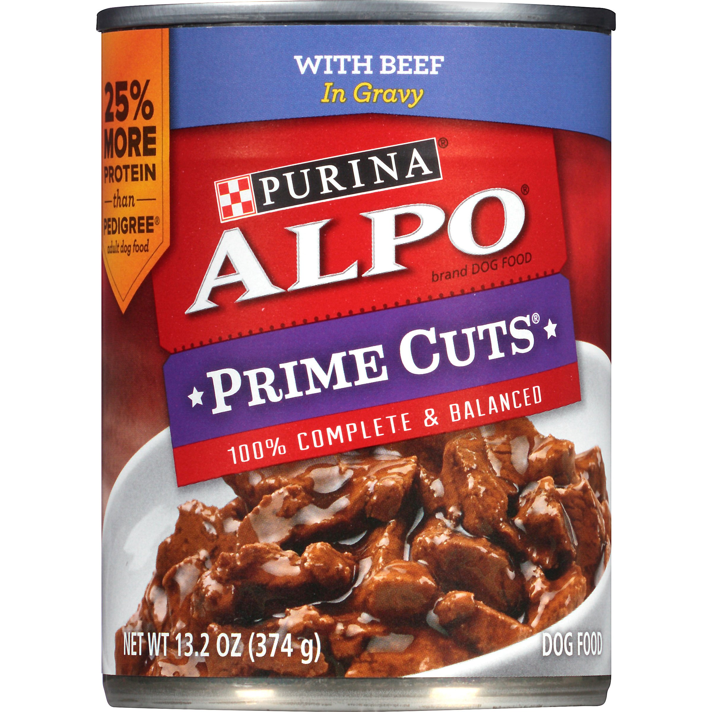 Alpo Prime Cuts Beef Dog Food (Pack of 12)