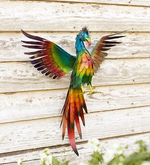 Metal Phoenix Wall Art - outdoor wall art - phoenix home decor