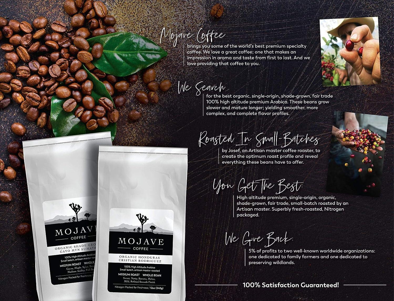 Mojave Coffee Costa Rica Tarrazu, Santa Elena Plantation, Single-Origin,  Shade-Grown, Small-Batch,