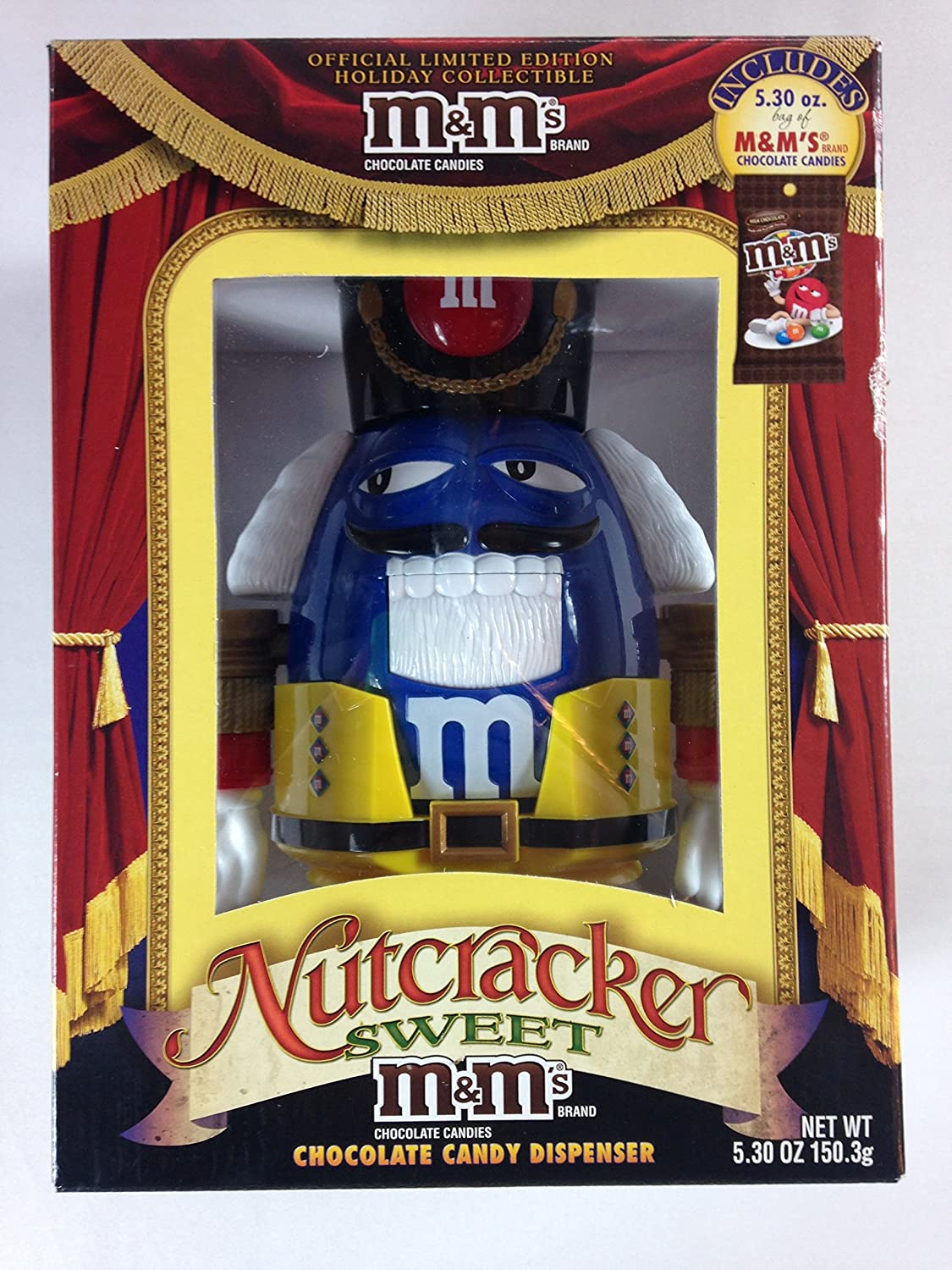 M& M's Nutcracker Sweet Candy Dispenser Limited Edition M&M Mars