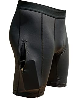 e9d469375a5c2c Amazon.com : THE II BRO Compression Shorts with Pockets for Running ...
