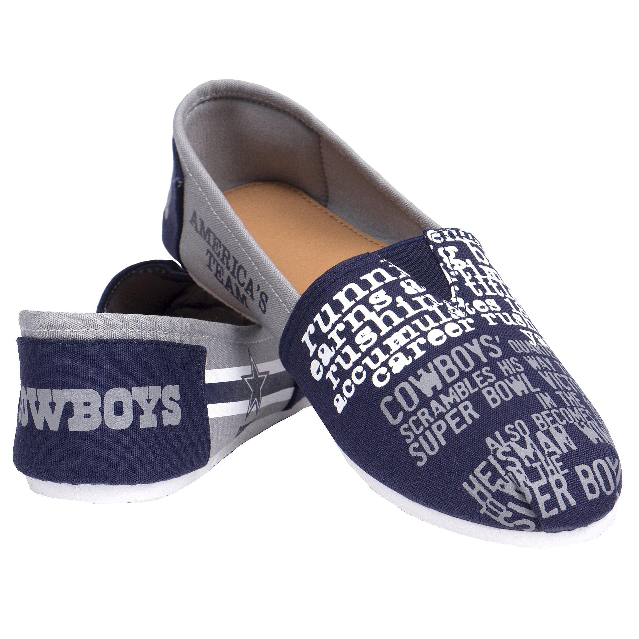 FOCO NFL Womens SMU Thematic Womens Canvas Shoe: Dallas Cowboys, Medium
