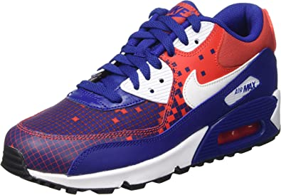 Nike Air MAX 90 Prem Mesh (GS), Zapatillas de Running para Niños, Azul/Blanco/Naranja/Negro (DP Ryl Blue/Wht-Lt Crmsn-Blck), 36 1/2 EU: Amazon.es: Zapatos y complementos