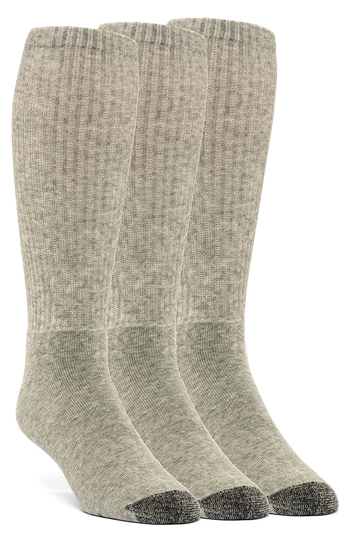 3 Pairs YolBer Mens Cotton Super Soft Over the Calf Cushion Socks