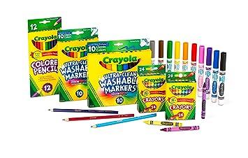 Crayola Back To School Supplies for Girls & Boys, Amazon Exclusive Art Set, 80Piece