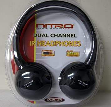 Nitro Dual Channel auriculares inalámbricos por infrarrojos (modelo bmwx-378): Amazon.es: Electrónica
