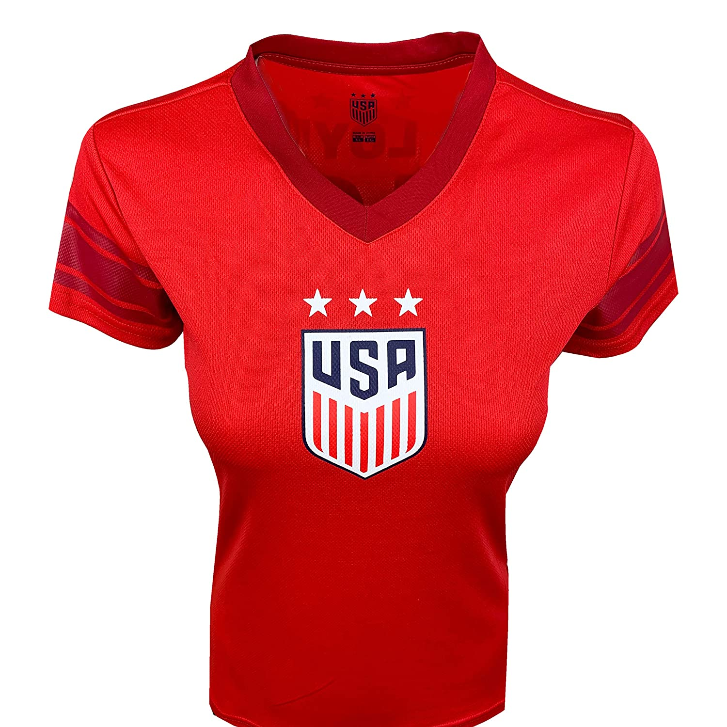 USA Carli Lloyd Red Jersey for Women and Girls Official US Lloyd Training Jersey Number 10