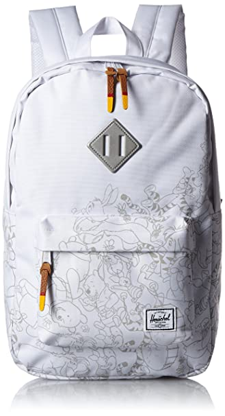 d0a47eedd5d Herschel Supply Heritage Backpack Mid-Volume (Winnie the Pooh White Screen  Print)  Amazon.ca  Clothing   Accessories