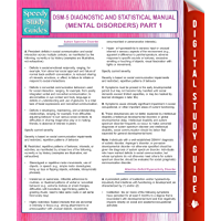 DSM-5 Diagnostic and Statistical Manual (Mental Disorders) Part 1: (Speedy Study Guides) (English Edition)