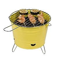 Holzkohlegrill Tepro Arlington Yellow klein gelb Charcoal Grill Balkon Camping Picknick ✔ rund dreieckig ✔ tragbar ✔ Grillen mit Holzkohle ✔ mit Dreibeinen