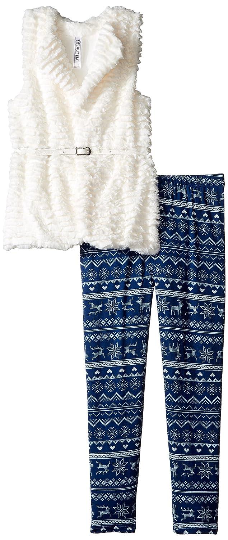 a545eb7fe0acc Amazon.com: Beautees Girls' Big Textured Faux Fur Legging Set, Natural, S:  Clothing