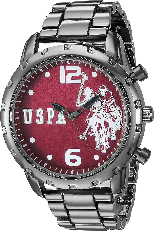U.S. Polo Assn. Men s Analog-Quartz Watch with Alloy Strap, Silver, 8.9 Model USC80441