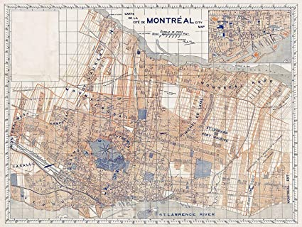 photograph about Printable Map of Montreal known as : Historic 1939 Furse Map or Software of The Town of