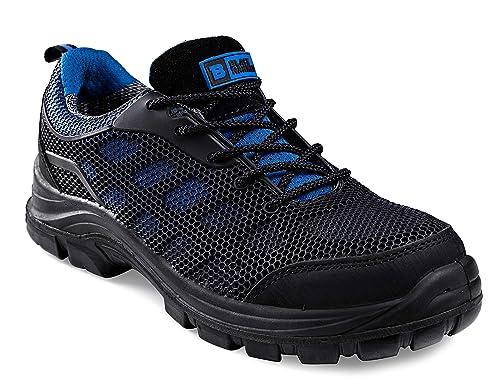 Calzado de Seguridad Impermeable para Hombres Puntera de Composite Sin Metal Ultraligera Botas de Trabajo para Caminar con Entresuela de Kevlar y al ...