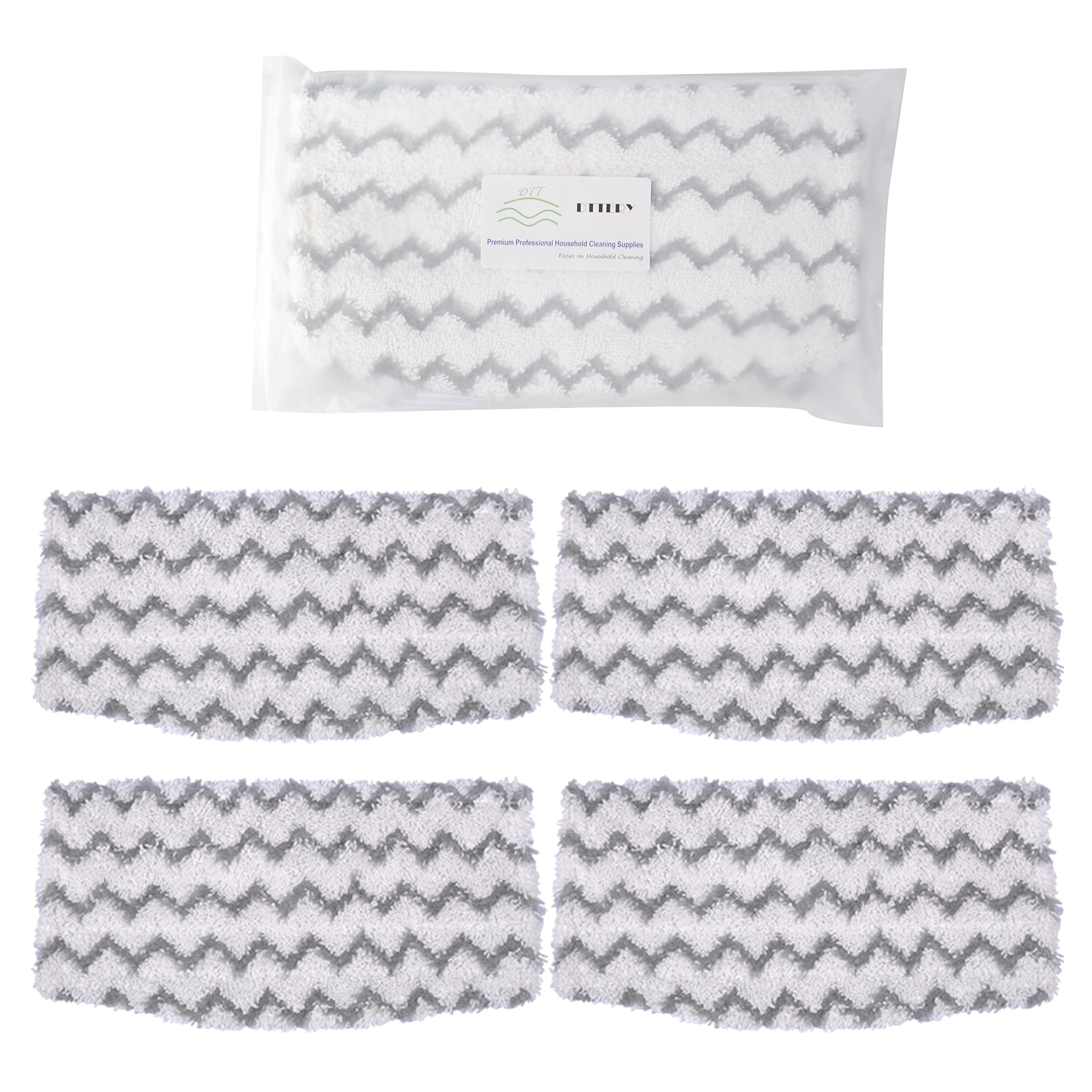 4 Pack Shark Steam Mop S1000 S1000A S1000C S1000WM S1001C Dirt Grip Pads Set Washable Microfiber Mop Pads Cleaning Pads Replacement Parts