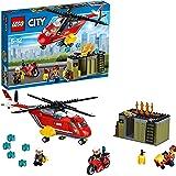 LEGO 乐高  拼插类 玩具  LEGO City  城市系列 消防直升机组合 60108 5-12岁
