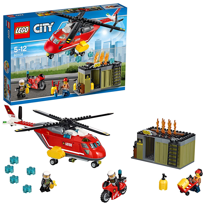LEGO City 60108 - Feuerwehr-Löscheinheit, Kinderspielzeug: Amazon.de ...