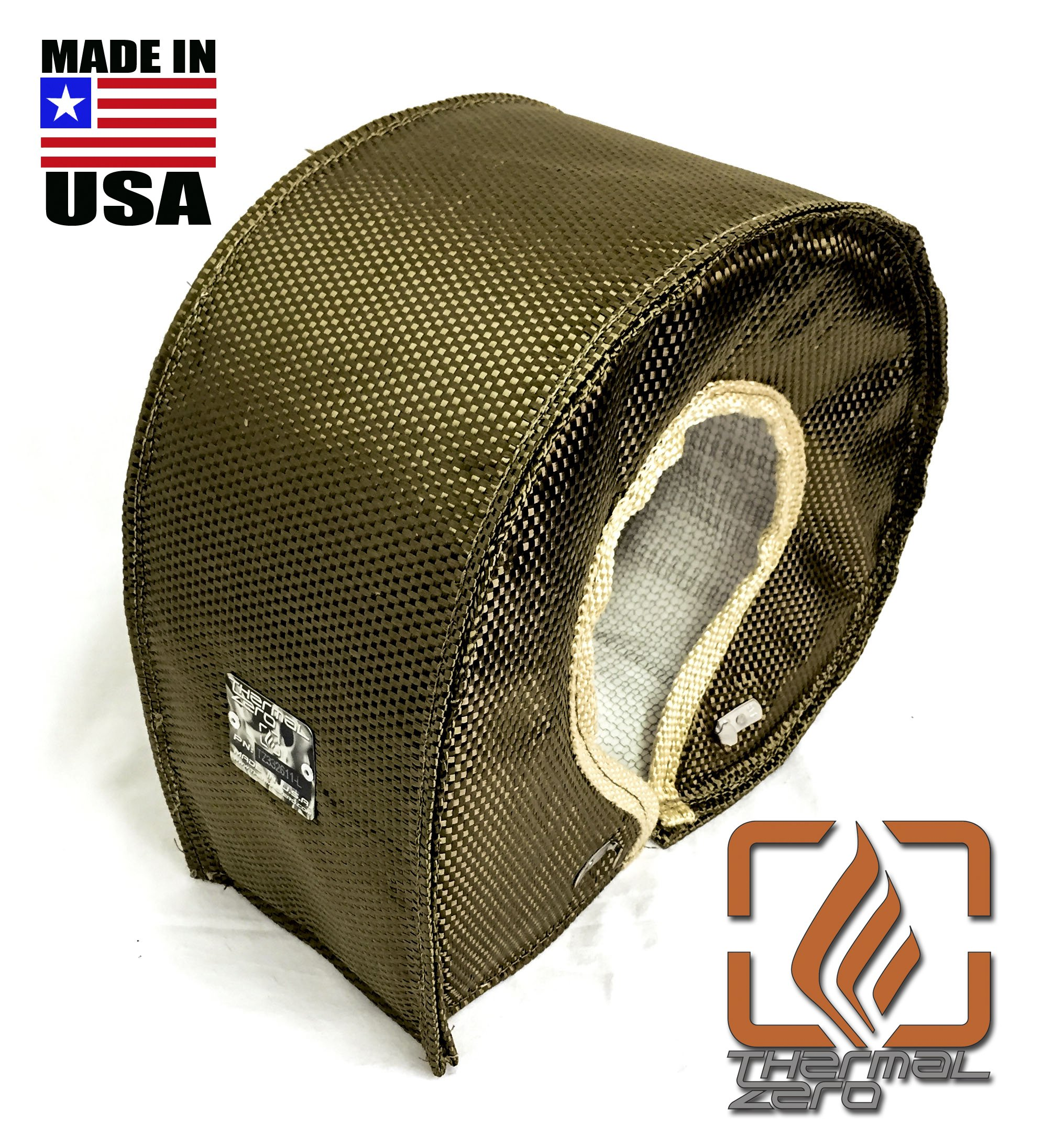 Thermal Zero LAVA TITANIUM UNIVERSAL T6 Turbo Blanket Holds 2400 degrees. MADE IN USA unlike the rest. Fits most T6 turbochargers including Garrett, Precision, Turbonetics DETROIT DIESEL, CUMMINS