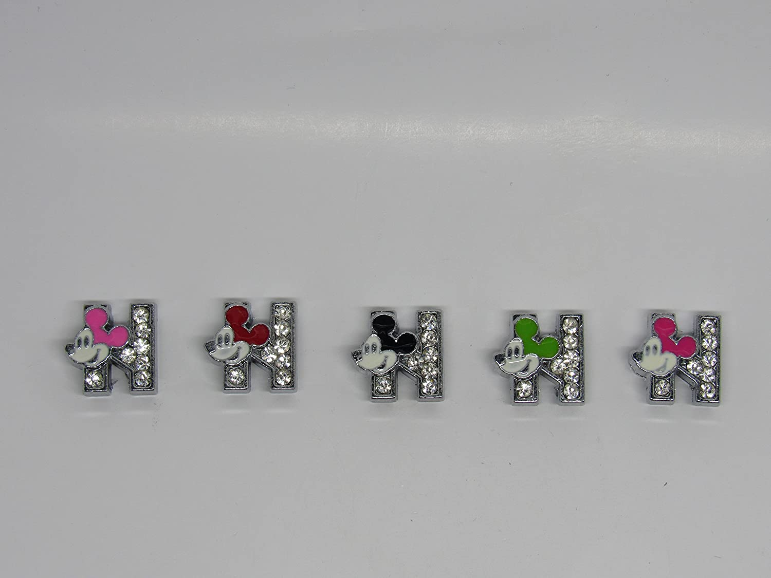 Mickey Mouse Crystal Letter N Floating Charm