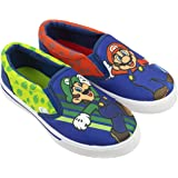 Super Mario Brothers Mario & Luigi Boys Shoes, Nintendo Sneaker Easy Slip-on, Little Kid/Big Kid, Size 10 to 3