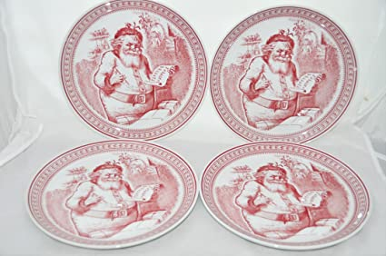 Williams Sonoma Christmas Plates.Amazon Com Spode Christmas St Nick Williams Sonoma