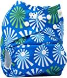 Bumberry Pocket Diaper (White Flowers On Blue) and 1 Microfiber Insert