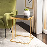 Safavieh Home Amarylis Black and Gold Greek Key Side Table