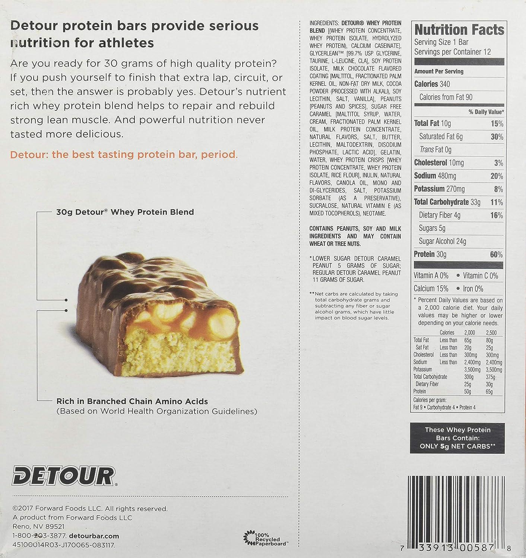 Forward Foods Deluxe Whey Protein Energy Bar Caramel Peanut 12-3oz. 85g bars 36 oz. 1020g