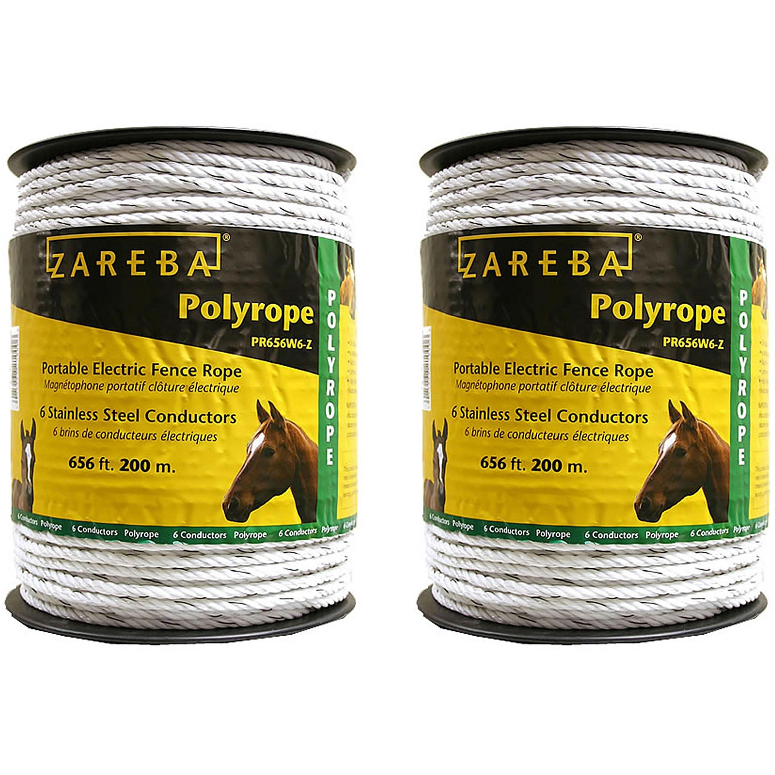Zareba Systems PR656W6-Z Polyrope 200m 6-Conductor Portable Electric-Fence Rope (2 Pack) by Zareba