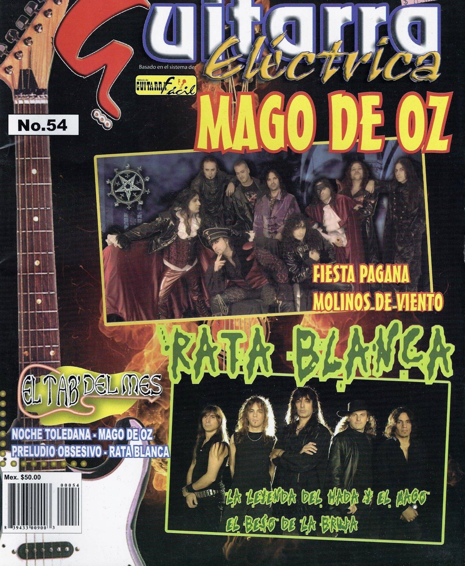 Guitarra Electrica No. 54 Mago De Oz Rata Blanca Metodo Guitarra Facil (Guitarra Electrica No. 54 Mago De Oz Rata Blanca Metodo Guitarra Facil, NO.