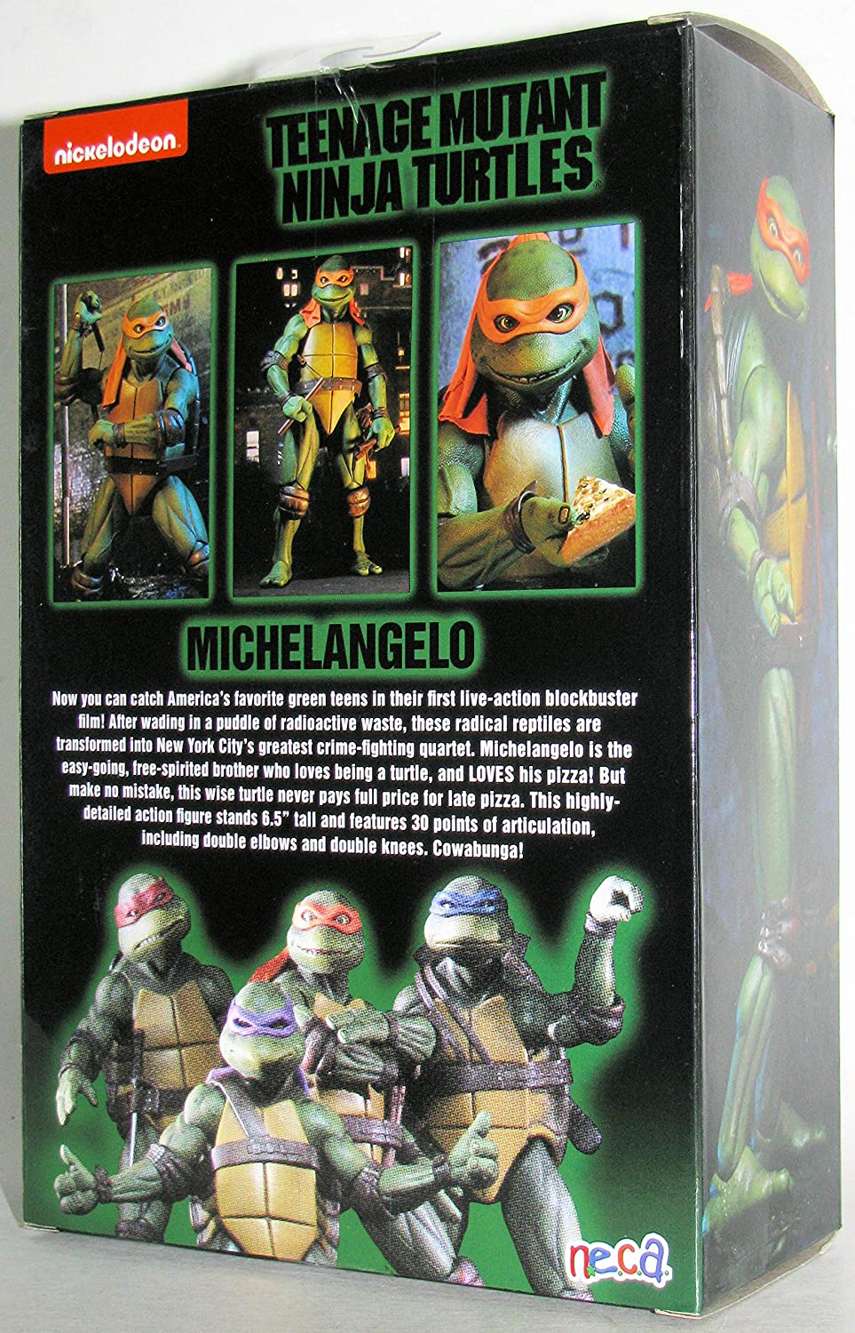 Teenage Mutant Ninja Turtles 90s Movie Michelangelo 6.5-inch Action Figure by NECA Reel Toys 2019 GameStop Exclusive