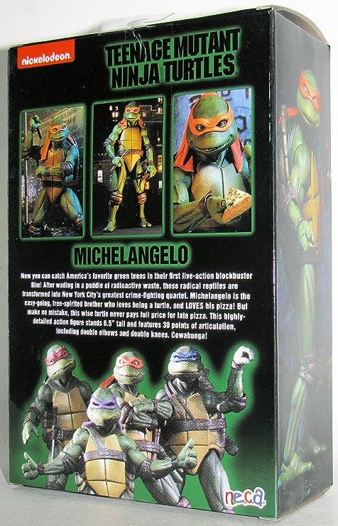 Teenage Mutant Ninja Turtles 90s Movie Michelangelo 6.5-inch Action Figure by NECA Reel Toys 2019 GameStop Exclusive
